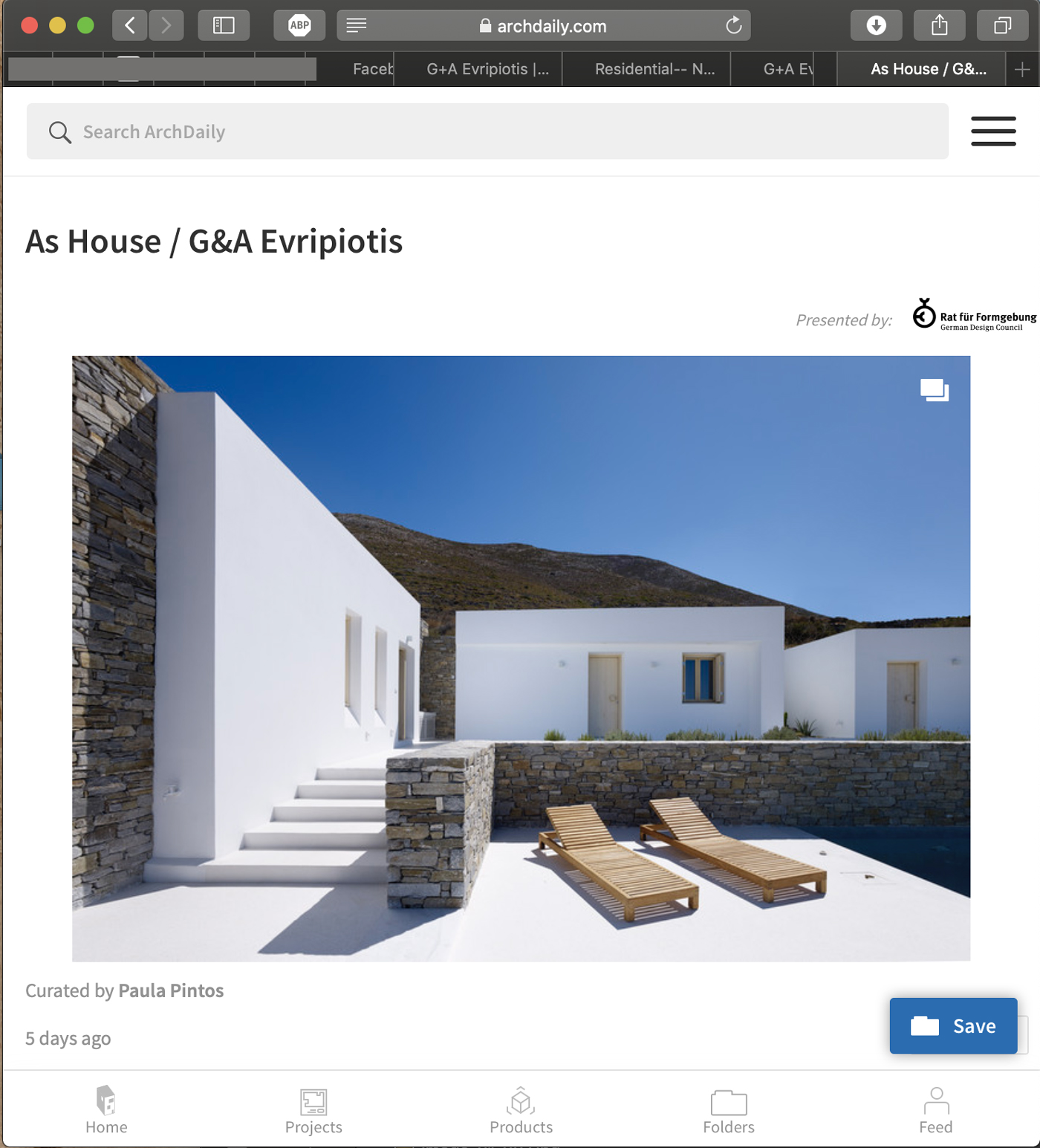 Thumbnail for As House featured on Archdaily
